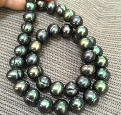FidgetGear New Baroque South sea AAA 10-11mm Black Green Pearl Necklace 18