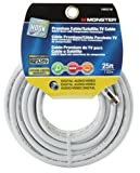 CABLE RG6 QUAD 25' WHITE by MONSTER JHIU MfrPartNo 140033-00