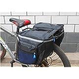 HOODDEAL 18L Bicycle Bike Big Rear Seat Tail Bag Pannier Outdoor Waterproof Racks Black