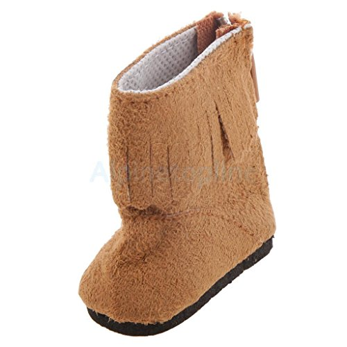 Fashion Lady Brown Boot Tassel Decor for 16inch/40cm Dolls Party Accs by alpinetopline