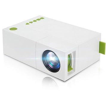 Heim Micro proyector, LED Portátil Home Cinema Full HD 1080 ...
