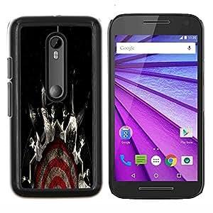 Caucho caso de Shell duro de la cubierta de accesorios de protección BY RAYDREAMMM - Motorola MOTO G3 3rd Gen - Resumen Oscuro