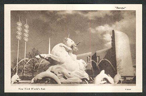 Europa Statue New York World's Fair 1939 postcard - Europe Statue