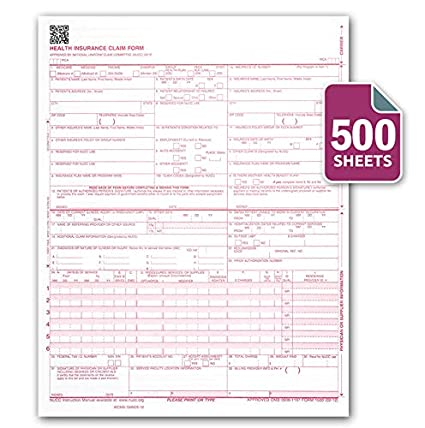 amazon com cms 1500 hcfa 1500 insurance claim forms laser