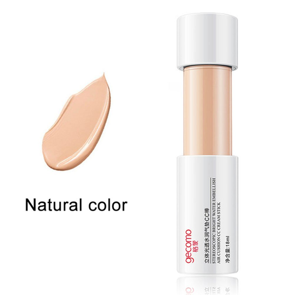 EDTara CC Cream Natural Brightening Cover Concealer Rod Anti-Wrinkle Moisturizing Makeup Tool 2# Ivory White