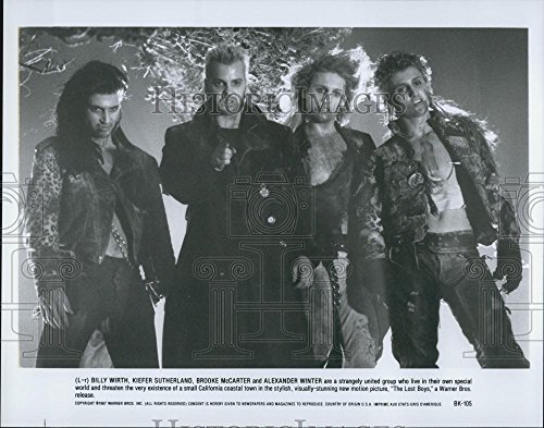 "1987 Throng Photo ""The Lost boys""Billy Wirth,Keifer Sutherland,Brooke McCarter"