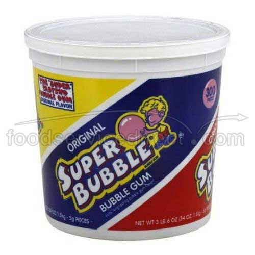 Super Bubble Gum Original Flavor Fruit Candy, 54 Ounce -- 8 per case. by Ferrara Candy Company (Image #1)