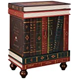 Design Toscano The Lord Byron Vintage Decor Stacked Books End Table Storage Furniture, 71 cm, MDF Wood, Full Color