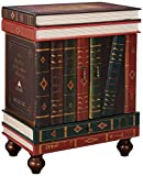 Cheap Design Toscano The Lord Byron Vintage Decor Stacked Books End Table Storage Furniture, 28 Inch, MDF Wood, Full Color