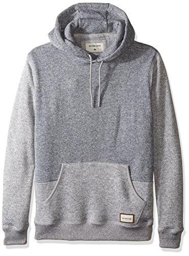 Quiksilver Men's Keller Hood Hoodie Sweatshirt, Light Grey Heather, Small