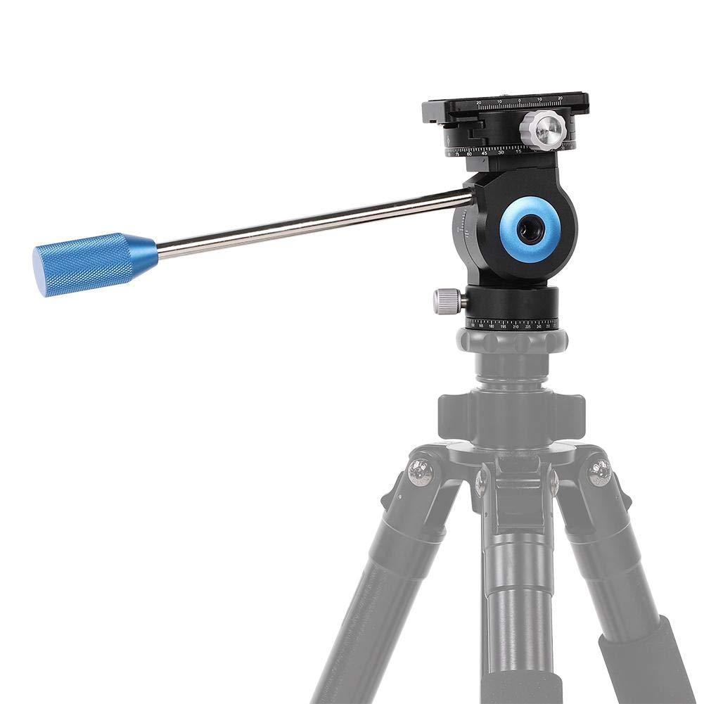ビデオ雲台 VBESTLIFE GH-20Rアルミ合金3D油圧ダンピング3D写真CNCボールヘッド 小型 コンパクト ビデオカメラ雲台 高耐久 軽量 水準器付き 三脚 一脚対応   B07PHSCZV4