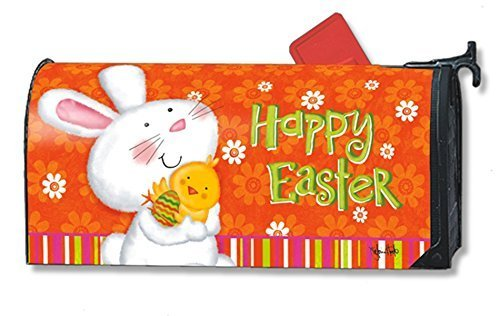 Bunny Love Easter Oversized/Large Magnetic Mailbox Cover MailWraps Magnet Works