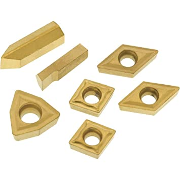 Grizzly T23904 P10 TiN Insert Set Machined Stee Length for T10294 7