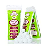 Jumbo Cotton balls - 210 ct (3 packs of 70) - Premium Quality, 100% Biodegradable, Super Soft & Absorbent. Use for nail polish & face make-up removal, skincare, Medical use, Baby care, Arts & Crafts
