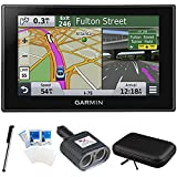 Garmin Nuvi 2689LMT 010-01188-02 North America 6 inch Bluetooth Voice Activated, Lifetime Maps and Traffic USA Canada Mexico Maps GPS Essentials Bundle- Includes Dual Socket Cigarette Adapter, Carrying Case, Stylus Pen, and LCD Screen Protectors