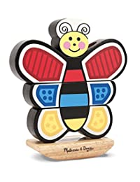 Melissa & Doug Butterfly Stacker - Vertical Wooden Puzzle Toy BOBEBE Online Baby Store From New York to Miami and Los Angeles