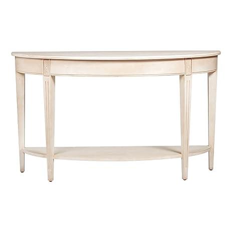 Ethan Allen Barrow Sofa Table, Cotton