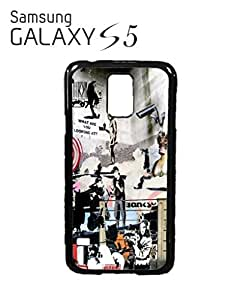 Banksy Street Art Graffiti Mobile Cell Phone Case Samsung Galaxy S5 Black
