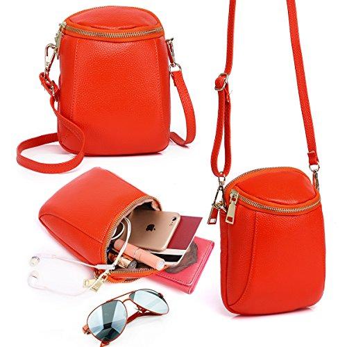 Orange Leather Handbag - 3