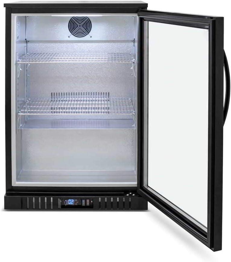 24 Single Door Glass Back Bar Beverage Cooler