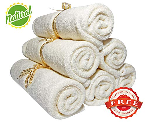 Baby Washcloths - Organic Bamboo, Luxury 2-ply washcloth. Suitable for Eczema. Best for Baby Shower/ Registry Gifts. All Natural, Safe and Soft Reusable Wipes. 10.6