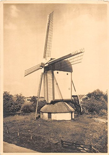Countryside Windmill - Pair of Netherlands scenic views of windmills in countryside vintage pc Y3568