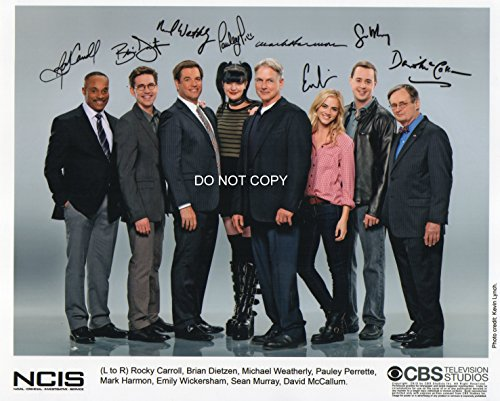 NCIS TV show reprint signed cast photo RP #3 from Loa_Autographs