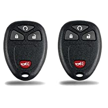 KeylessCanada © New Keyless Entry 4 Button Key Fob Car Remote For Select GM Chevrolet Saturn Buick Vehicle Compatible with OUC60221 OUC60270 (2 Pack)