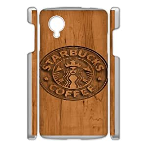 Design Cases Google Nexus 5 Cell Phone Case White Starbucks Pvpbg Printed Cover