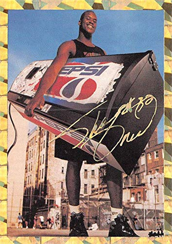 Shaquille O'Neal basketball card (LSU Tigers, Shaq) 1993 Promo Edition Pepsi Gold Foil Refractor Rookie #1 ()