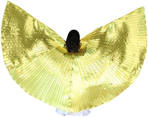 [해외]사교 댄스 의상 YOKINO LED 날개 의상 망 토 날개 이시스 윙 무대 의상 의상 액세서리 1 개의 확장 막대 기가 있다 360도 윙 3 개 유형 (Gold) / Ballroom Dancing Costume YOKINO LED Wing Costume Cloak Wing Isis Wing Stage Costume Costume Acc...