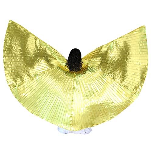 Moonite Belly Dance Wings - Halloween Christmas Party Cloak - Holographic Lightweight Angel Wings - Butterflies Pixie Dancing Wings - Kids Children Girls -