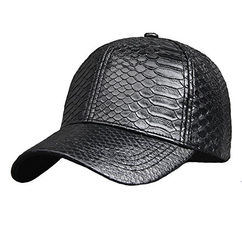 Unisex Snake (Pu Adjustable Baseball Cap Women Men Unisex Glossy Snake Skin Structured Caps Hat)