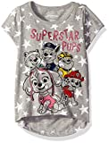 Nickelodeon Little Girls Paw Patrol Superstar Pups Short Sleeve Tee Shirt, Gray, 2T