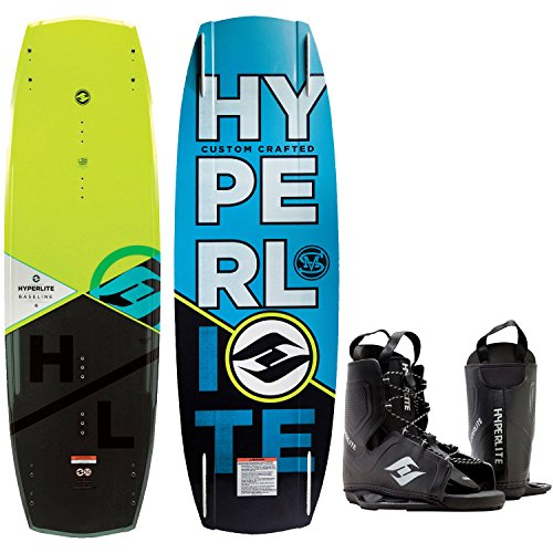 Hyperlite Baseline Blem Wakeboard Mens 141cm Bindings, used for sale  Delivered anywhere in USA