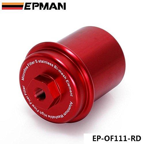 epman deporte anodizado de gran caudal Turbo Filtro de combustible JDM para Integra RS LS GSR B18 (rojo): Amazon.es: Coche y moto