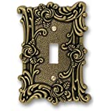 amertac 60tab amerelle provincial 1 toggle wallplate antique brass