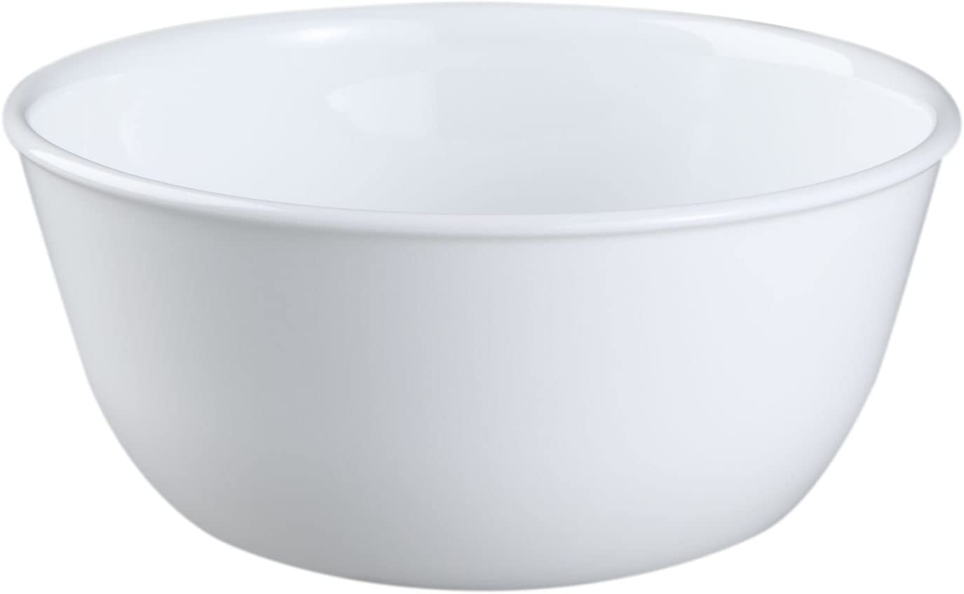 Corelle Livingware Winter Frost White 28 Ounce Soup/Cereal Bowl (Set of 4)