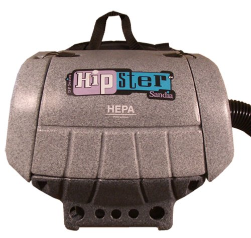 Sandia 30-3001 HEPA 1.5 HP Hipster Commercial Hip Vacuum with 5 Piece Standard Tool Kit, 6 Quart Capacity