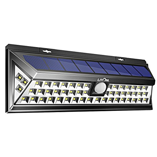 Litom 3RD-GEN Plating Solar Lights Outdoor, Super Bright