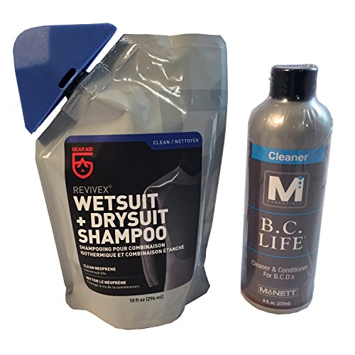 M Essentials Wetsuit Drysuit Shampoo and BC Life BCD Cleaner - Wetsuit Cleaner