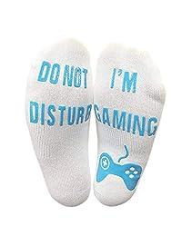 Men's Do Not Disturb Letter Print Great Gamer Gifts Funny Ankle Socks