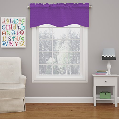 Eclipse 15453042X018PUR Kendall 42-Inch by 18-Inch Blackout Wave Window Valance, Purple