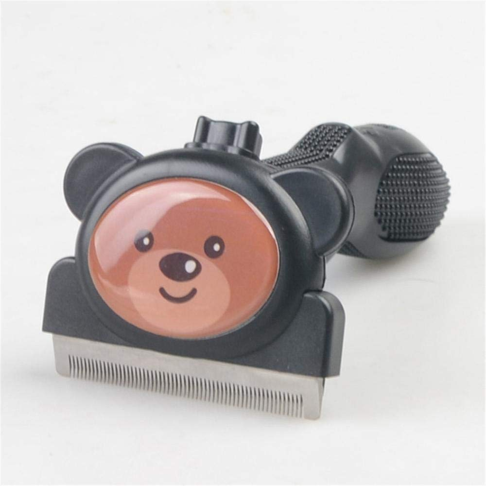 KBWL Stainless Steel Cat and Dog Comb Hairdressing Tools Cartoon Animal Detachable Pet Dog Cat Hair Opening Trimming Supplies L Bear