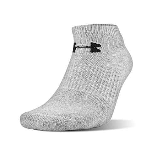 Under Armour Charged Cotton 2.0 No Show Socks, 6 Pairs, True Gray Heather Assorted, x Large by Under Armour (Image #3)