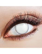 aricona Kontaktlinsen Kleurlenzen - witte jaarlenzen zonder sterkte - Halloween contactlenzen wit horror