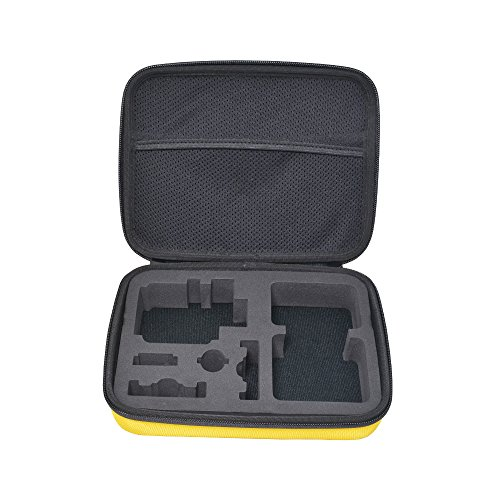 Bestshoot Camera and Accessories Case for GoPro HERO 5 4 3+ 3 2 1 and Other Similar Size Action Cameras Complete Protection Harder Foam Interior Durable Nylon Case