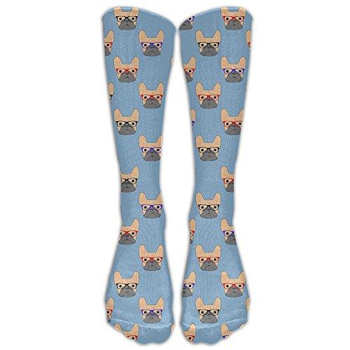 Egg Egg Bulldog In The UK Wears Glasses Fashion Sports Stocking Athletic Socks Crew Socks For Women & - Buy Uk Online Glasses