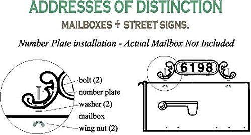 Addresses of Distinction Blank Charleston Mailbox Address Plate – Mailbox Plaque for House Numbers – Double Sided Address Sign – Rust Proof Aluminum Mailbox Topper – All Mounting Hardware Included by Addresses of Distinction (Image #2)