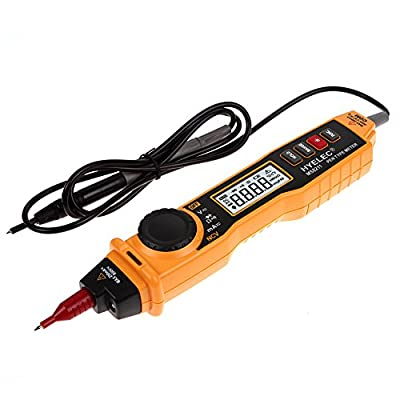 Alloet Digital Multimeter Pen-type with NCV Detector Non-contact DC/AC Voltage Tester Meter + Test Clips + Carrying Case